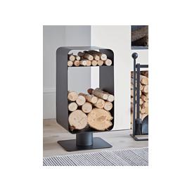 image-Steel Log & Kindling Holder