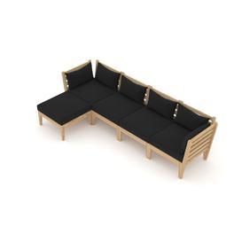 image-Taki Garden Corner Sofa with Cushions Sol 72 Outdoor