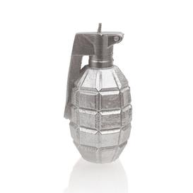 image-Silver Large Grenade Candle