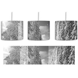 image-Winter Landscape with Snowy Trees 1-Light Drum Pendant East Urban Home