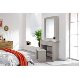 image-Hobson 1 Door 1 Drawer Dressing Table Set Grey