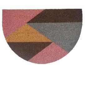 image-Half Moon Geo Doormat Brown