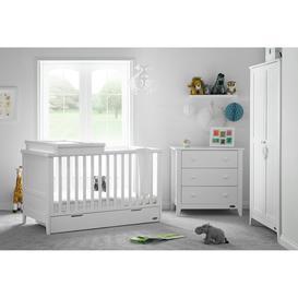 image-Obaby Belton 3 Piece Nursery Furniture Set - White