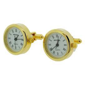 image-Table Clock Happy Larry Finish: Gold