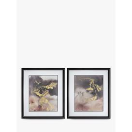 image-Evening Shimmer - Framed Print & Mount, Set of 2, 72 x 62cm, Gold