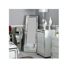 image-White Manhattan Floor Mirror