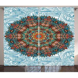 image-Mandala Pencil Pleat Blackout Thermal Curtains East Urban Home Dimensions per curtain: 140 W x 225 D cm