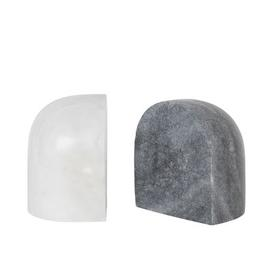 image-Luru Book end - / Set of 2 - Marble by Ferm Living White,Grey