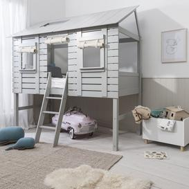 image-Christopher Treehouse Midsleeper Bed in Silk Grey
