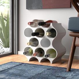 image-Set-Up 10 Bottle Wine Rack Koziol Colour: White