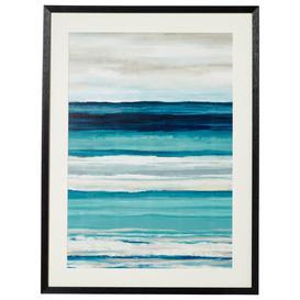 image-Framed Striped Sea and Sky Print - Multi