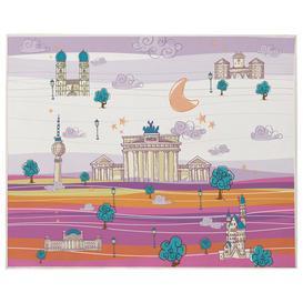 image-Israel Playmat Isabelle & Max Colour: Mauve/Orange