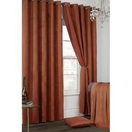 image-Eyelet Semi-Sheer Thermal Curtains Marlow Home Co. Size per Panel: 229 W x 229 D cm, Colour: Rustica