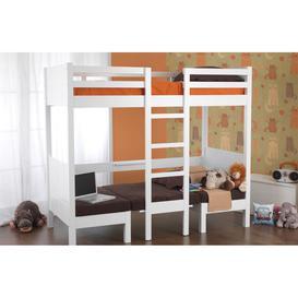 image-Sweet Dreams Play High Sleeper Wooden Bunk Bed - Single
