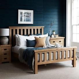 image-Como Oak Bed Frame Super King