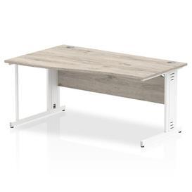 image-Zetta Executive Desk Ebern Designs Size: 73cm H x 160cm W x 100cm D, Orientation: Left, Frame Colour: White