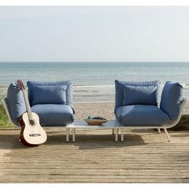 image-Alexander Rose Beach Garden Shell 2 Seater Split Sofa & Side Table