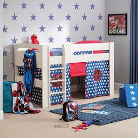 image-Alexandro Single Mid Sleeper Bed Isabelle & Max Colour (Fabric/Accessory): Blue/Red