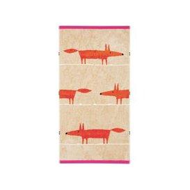 image-Scion Mr Fox Hand Towel, Cerise & Tangerine