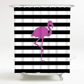 image-Flamingo Shower Curtain Sanilo