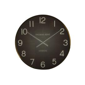 image-Owsley Wall Clock Ebern Designs Colour: Orange/Gold, Size: 74cm H x 74cm W x 6cm D