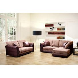 image-Zora 3 Piece Sofa Set Marlow Home Co. Orientation: Right Hand Facing, Upholstery: Brown