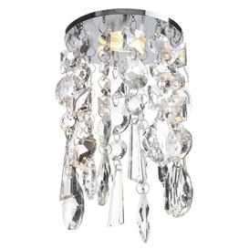 image-Marquis by Waterford - Bresna Crystal Recessed Ceiling Light with Cool White LED Bulbs - Chrome