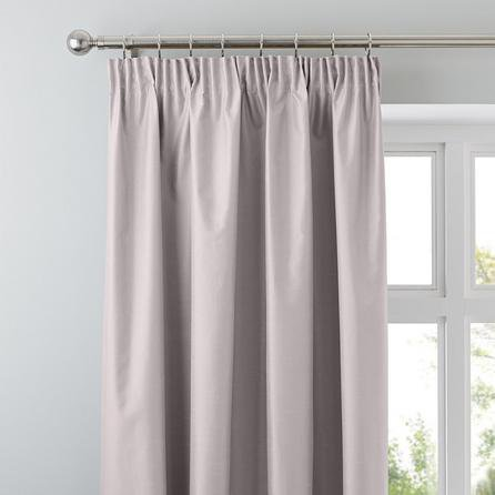 image-Nova Blush Blackout Pencil Pleat Curtains Blush (Pink)