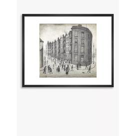 image-LS Lowry - 'Oldfield Road Dwellings, Salford' Framed Print & Mount, 42 x 52cm, Grey