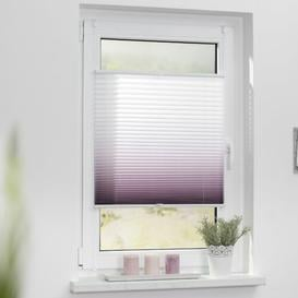 image-Sheer Pleated Blind Zipcode Design Size: 45cm W x 130cm H, Colour: Taupe/White
