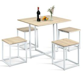 image-Libra Dining Set with 4 Chairs Ebern Designs
