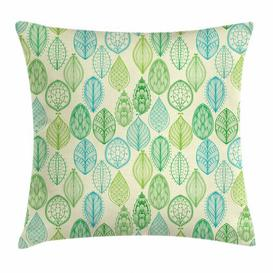 image-Abida Nature Leaves Forest Outdoor Cushion Cover Ebern Designs