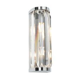image-39629 Crystal Double Bathroom Chrome and Glass Wall Light