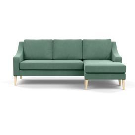 image-Heal's Richmond Corner Chaise Sofa Smart Velvet Jade Natural Ash Feet