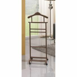 image-Ahearn Valet Stand Ophelia & Co. Finish: Walnut