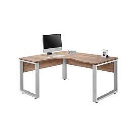 image-Fylo Left Hand Facing Corner Desk - Brown