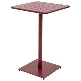 image-Yasser Steel Bar Table Sol 72 Outdoor Colour: Bordeaux