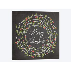 image-'Christmas Chalk III' by Erin Clark Graphic Art Print on Wrapped Canvas Urban Designs Size: 66.04cm H x 66.04cm W x 3.81cm D