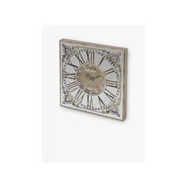 image-Libra Vienna Roman Numerals Square Mirror Wall Clock, 60cm, Antique Gold