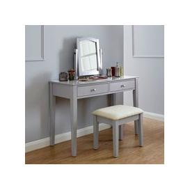 image-Hattie Grey Dressing Table & Stool Set