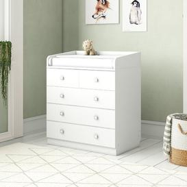 image-Aarav 5 Drawer Changing Table HoneyBee Nursery