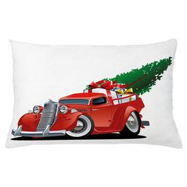 image-Kyron Christmas American Truck Outdoor Cushion Cover Ebern Designs Size: 40cm H x 65cm W