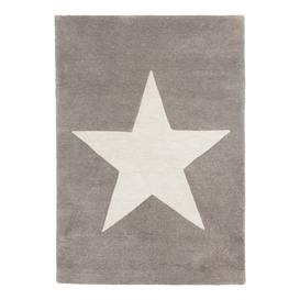 image-little home at John Lewis Star Children's Rug, Grey, L100 x W70cm