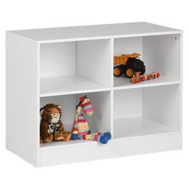 image-Hartleys White 4 Cube Kids Storage Unit