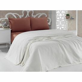 image-Magallon Bedspread Ebern Designs Size: W220 x L260cm, Colour: Cream