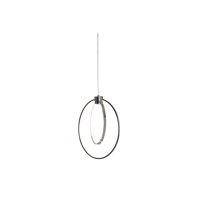 image-Duo Chrome Pendant Lamp, Silver