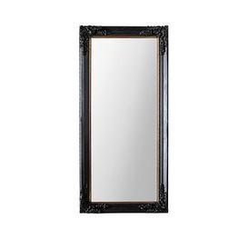 image-Gallery Harrelson Antique Black Leaner Mirror