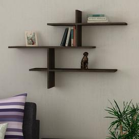 image-Felicia Wall Shelf Zipcode Design Finish: Dark Brown