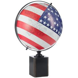 image-World USA Flag Globe Ebern Designs