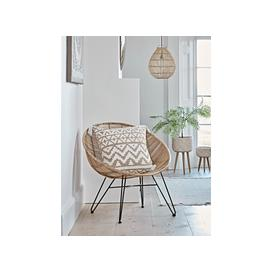 image-Flat Rattan Occasional Chair - Natural